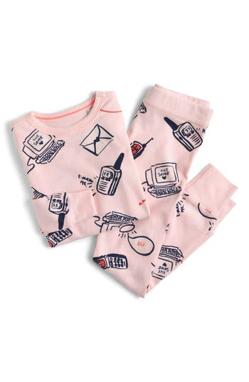Girls Crewcuts Long Distance Relationship Fitted TwoPiece Pajamas