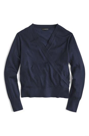 J.crew Merino Wrap Sweater, Blue