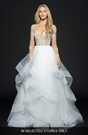 Hayley Paige Lorelei Embroidered Tulle Ballgown