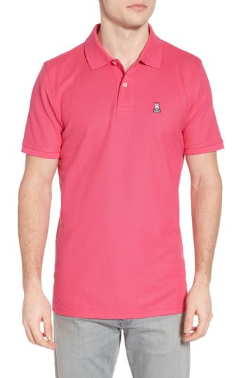 Men's Psycho Bunny Classic Pique Polo, Size 4(s) - Pink