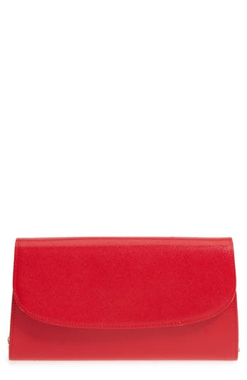 Nordstrom Leather Clutch - Red