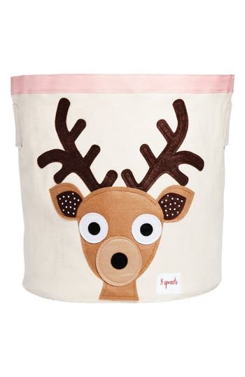 3 sprouts female 3 sprouts deer canvas storage bin size one size brown