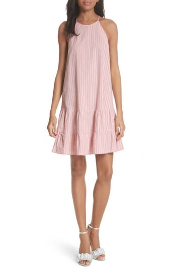 Rebecca Taylor Sleeveless Stripe Tank Dress, Pink