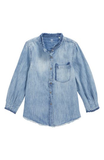 AG ADRIANO GOLDSCHMIED KIDS   Girl's Ag Adriano Goldschmied Kids Madison Chambray Shirt   Goxip