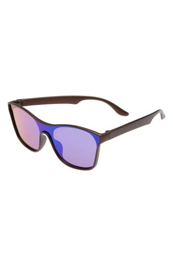 Boys Fantas Eyes Mirrored Sunglasses  Brown Green Mirror