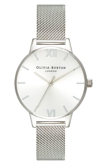 Olivia Burton Sunray Mesh Strap Watch, 30mm