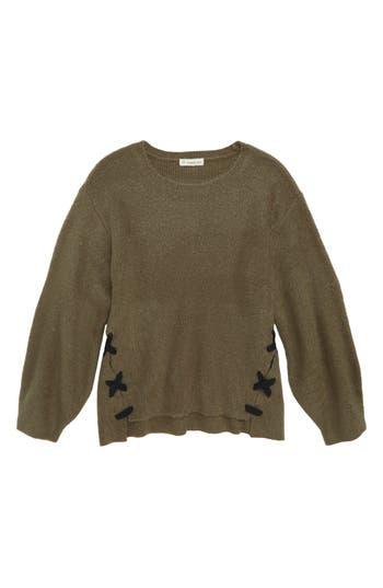 Girls Tucker  Tate LaceUp Tunic Sweater
