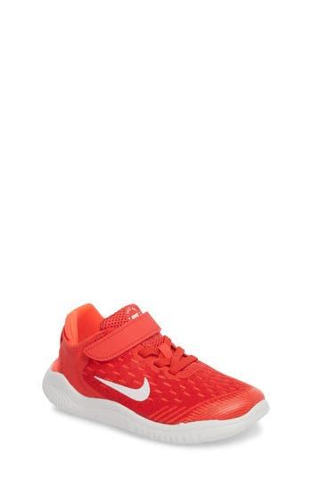 Boys Nike Free Rn Running Shoe Size 2 M  Red