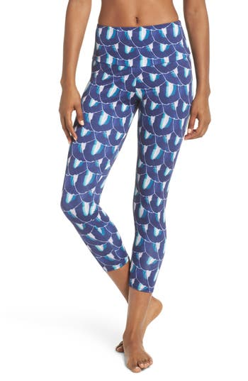 Onzie High Rise Capris, Blue