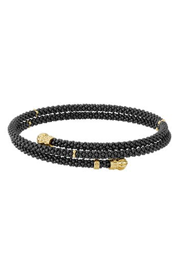 LAGOS Gold & Black Caviar Coil Bracelet