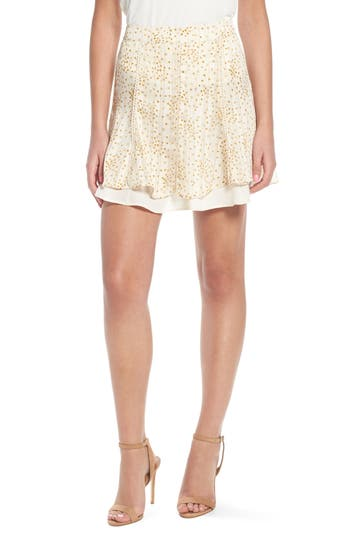 4Si3Nna Double Layer Miniskirt, Ivory