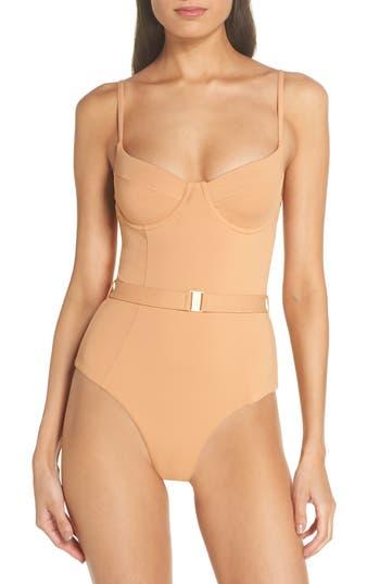 Onia Danielle One-Piece Swimsuit, Beige