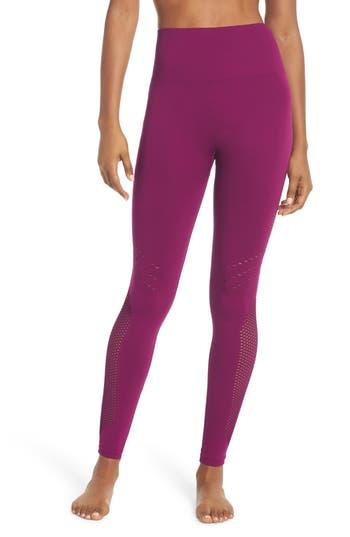 Zella Essence Seamless High Waist Ankle Leggings, Purple