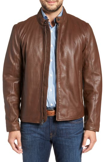 Andrew Marc Horace Leather Moto Jacket