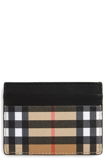 Burberry Horseferry Leather Card Case