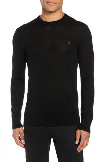 Mens Allsaints Mode Slim Fit Merino Wool Sweater Size Small  Grey