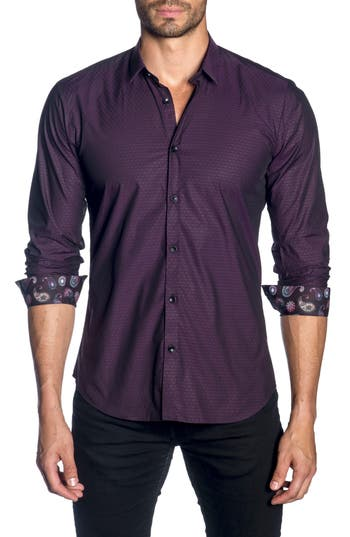 Men's Jared Lang Trim Fit Sport Shirt, Size X-Large - Black
