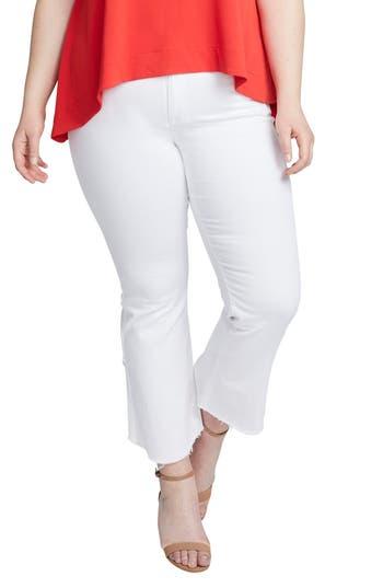 Plus Size Women's Rachel Rachel Roy Crop Flare Jeans, Size 22W - White