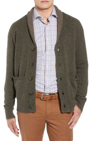 Peter Millar Merino Wool & Yak Down Shawl Collar Cardigan