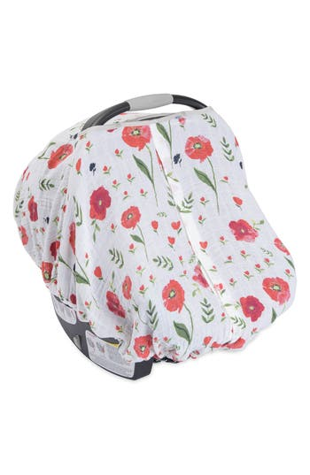 Infant Little Unicorn Cotton Muslin Car Seat Canopy Size One Size  Red