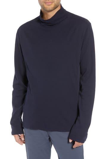 Men's Vince Regular Fit Waffle Knit Turtleneck Top, Size Small - Blue