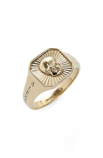 Alexander McQueen Square Skull Medallion Ring