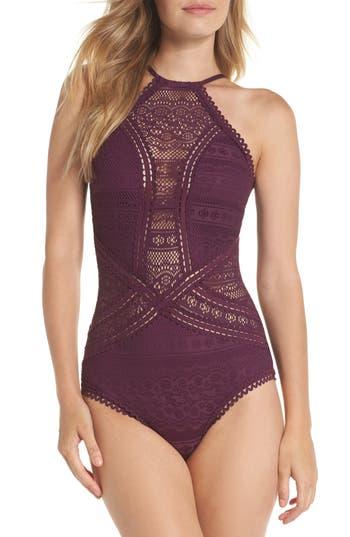Becca Prairie Rose Crochet One-Piece Swimsuit