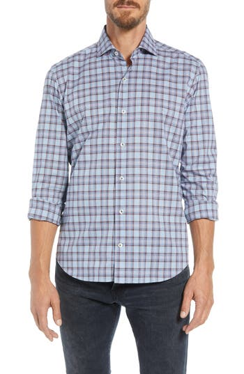 CULTURATA SUPERSOFT PERFECT PLAID TAILORED FIT SPORT SHIRT