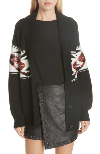 Joie Sequin Patterned Wool Cardigan