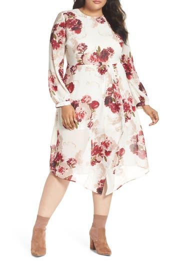 Leith Floral Drape Dress