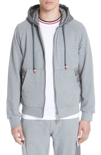 Moncler Maglia Quilted & Knit Zip Hoodie
