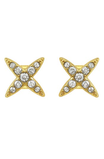 PAVE FOUR POINT STAR EARRINGS