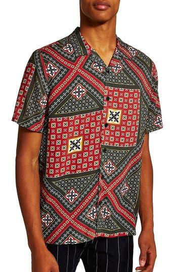 Topman Geometric Classic Fit Shirt