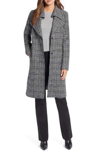 Halogen® Overlapping Collar Coat