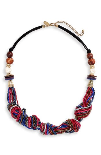 Natasha Beaded Knot Statement Necklace