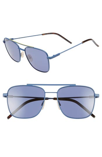 Fendi 55mm Polarized Navigator Sunglasses