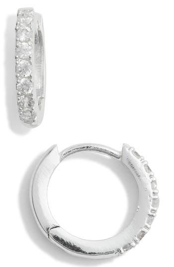 Estella Bartlett Crystal Pavé Huggie Hoop Earrings