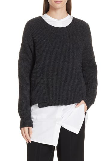 Vince Overlap Panel Sweater