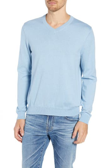 Nordstrom Men's Shop Cotton & Cashmere V-Neck Sweater