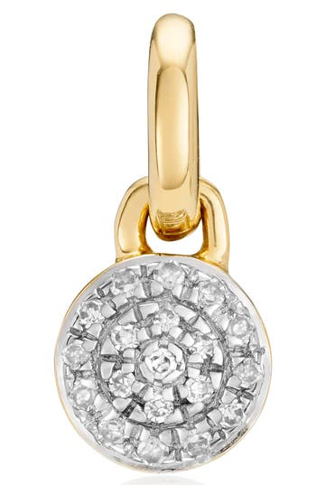 Monica Vinader Fiji Button Diamond Pendant Necklace