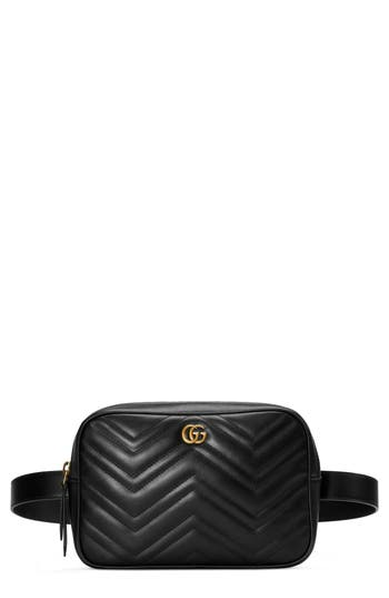 Gucci GG Marmont 2.0 Matelassé Convertible Leather Belt Bag