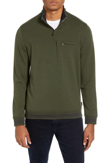 Ted Baker London Leevit Quarter Zip Pullover