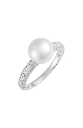 Mikimoto Pearl & Diamond Ring