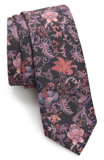 Topman Clarke Floral Print Tie