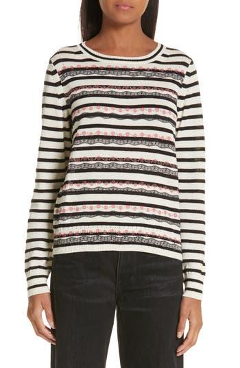 Tricot Comme des Garçons Flower Stripe Sweater