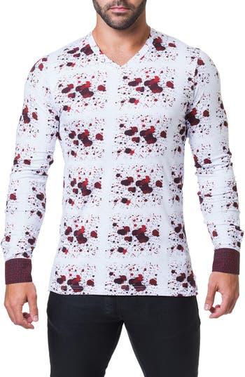 Maceoo Edison Splash V-Neck T-Shirt