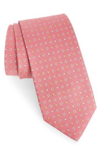 Salvatore Ferragamo Eldon Medallion Silk Tie