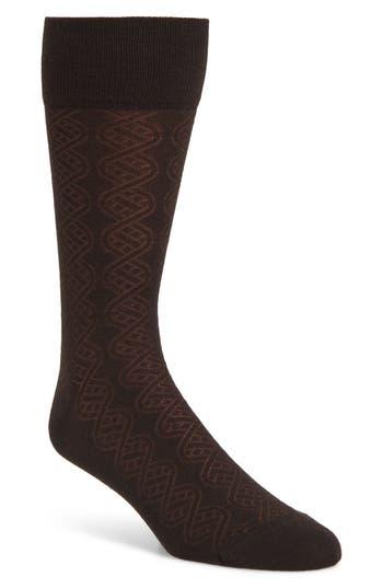 John W. Nordstrom® Cable Merino Wool Blend Socks
