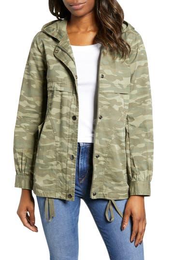 Caslon® Hooded Utility Jacket
