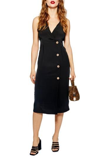Topshop Sleeveless Button Front Sheath Dress